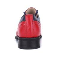 100% Vintage Genuine Pelle Pelle Scarpe Donne Delle Donne Dimensione US Dimensione 15 Madri a mano Matching Brogues Primavera 2018 Nuove scarpe Oxford per le donne