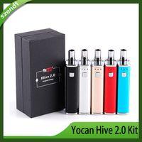 Yocan Hive 2.0 키트 2 in 1 Dab Vape 펜 키트 가변 전압 650mAh 박스형 기화기 스타터 키트 대 Evolve Plus