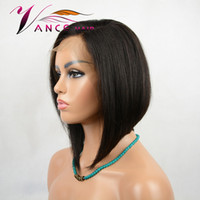 Vancehair full lace Wigs 130% Density Natural Color Short Bo...