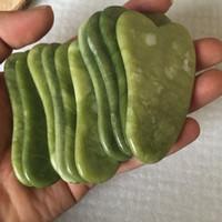 Gua Sha Scraping Massage Massage Volto Verde Rose Quartz Natural Jade Stone Stone Massaggi