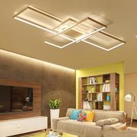 Neue Ankunft Schwarz / Weiß LED Deckenleuchter Für Wohnzimmer Arbeitszimmer Schlafzimmer Aluminium Moderne Led Deckenleuchter