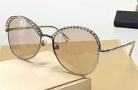 Bege de prata Pérolas Sunglasses 4246 Mulheres Moda Sun Óculos Mulheres Sunglasses Shades Eyewear novo com caixa