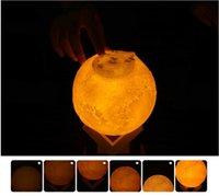 3D Luna lampada umidificatore 880ML Notte luce umidificatore Oli Essenziali diffusori ad ultrasuoni USB Humidificador vapore facciale TLZYQ755