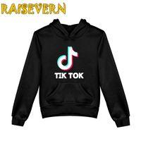 Tik tok hoodies crianças meninos meninos meninas roupas de algodão capuz com capuz com bolso crianças crianças casuais sportswear