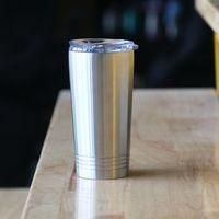 16 onças Tumbler com caneca de viagem tampa de aço inoxidável copo de água Garrafa pint copo isolados a vácuo Coffee Beer Cup clássico