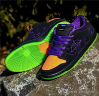 2019 New Release SB Dunk Low Night Of Mischief PRETO LARANJA roxo elétrico Halloween VERDE Running Shoes Sports Sneakers Tamanho 36-45