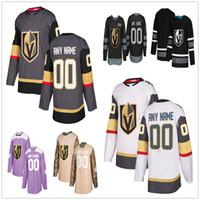 Custom Vegas Golden Knights # 89 Alex Tuch 77 Brad Hunt 90 Tomas Tatar 88 Nate Schmidt 22 Nick Holden Men Women Kids Kids Hockey Jerseys