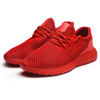 Solid Color with Breathable Mesh Men' s Shoes Lightweigh...