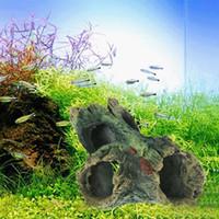 B / C Estilo Resina Decoração Da Árvore Do Aquário de Madeira Flutuante Artificial Para O Tanque de Peixes Ornamento Da Resina Paisagismo Decoração 12x7x11 cm
