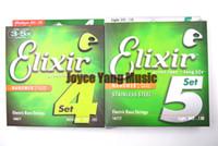 ELIX NANOWEB 14077/14777 Stringhe per basso elettrico 4/5 stringhe Ultra sottili rivestimenti in acciaio 045-105 (045-130)