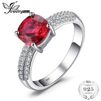 Jewelrypalace Cushion 2. 6ct Created Red Ruby Solitaire Engag...