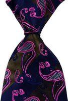 Nuevo clásico rayado paisley jacquard tejido seda corbata corbata corbata gz325813
