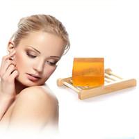 Piel Jabón de miel dulce facial Blanqueamiento Cuerpo Lightening Jabón de limpieza profunda de blanqueo kójico Jabón Facial Hidratante