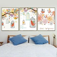 Nordic Style Bird Tree Posters And Prints Wall Art Illustrat...