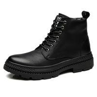 Мартин сапоги из натуральной кожи Мартин сапоги со шнуровкой Англия стильные мужские ботинки Мартин дизайнерские туфли с хлопковой подкладкой zy959