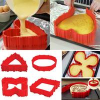 4 قطع / مجموعة سيليكون خبز سحر الأفعى قالب الكعكة DIY الخبز مربع مستطيل شكل قلب جولة كعكة العفن أدوات المعجنات b932