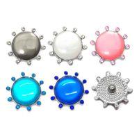 Commercio all'ingrosso w010 Fiore 3D 18mm 25mm Bottone a pressione in metallo per il braccialetto Collana gioielli intercambiabili Accessorie per le donne