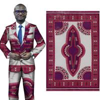 nuovi tessuti per costumi nazionali per abiti africani per abiti Stampa geometrica in poliestere stampa batik 6 metri all'ingrosso Binta Real Wax Prints