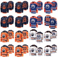 Edmonton Oliers Jerseys Mens 27 Milan Lucic Jersey 93 Ryan Nugent-Hopkins 99 Wayne Gretzky Ice Hockey Jerseys Womens Stitched Youth