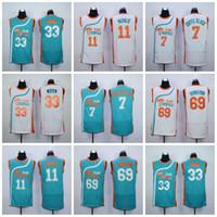 30ba626f843 Mens 7 Coffee Black 33 Jackie Moon 69 Downtown 11 ED Monix Flint Tropics  Semi Pro Movie Jersey Basketball Jerseys Stitched