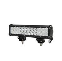 """4PCS 12 """"72W Cree LED Work Light Bar 7200LM 24PCS 3W Cree Vattentät för Jeep Off Road Van ATV SUV 4WD 4X4 Pickup"""