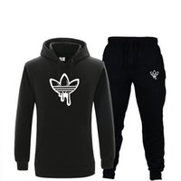 New Men' s Hoodies Suit Fleece Warm Cotton Tracksuit Men...