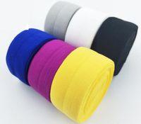 2cm 4cm Breite Qualität falten elastisches FOE buntes Bandstirnband diy Dekoration-Großverkauf Freies Verschiffen