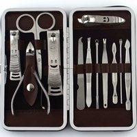 Бесплатная доставка 12 шт. маникюрный набор педикюр ножницы пинцет нож уха Pick утилита машинка для стрижки ногтей комплект, нержавеющая сталь уход за ногтями набор инструментов