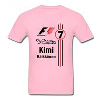 Summer Cool Kimi Raikkonen T Shirts Fashion Men T- Shirt F1 M...