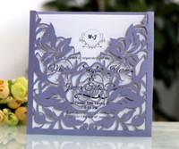 스퀘어 레이저 컷 장미 꽃 결혼식 초대장 카드 인사말 카드 초대장 이벤트 파티 용품 100pcs / lot DHL 무료 배송