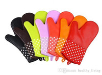 새로운 오븐 장갑 실리콘 고품질 전자 레인지 장갑 미끄럼 방지 오븐용 접시 주방 요리 케이크 베이킹 도구 DHL 무료 배송
