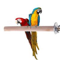 Papağan Pet Ham Ahşap Standı Oyuncak Parakeet Hamster Şube Kuş Kafesi için Tünemiş