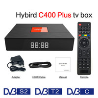 Magicsee C400 Além disso Amlogic S912 Octa Núcleo TV Box 3 + 32 GB Android TV Inteligente Box DVB-S2 DVB-T2 Cabo Dupla WiFi Inteligente Media Player