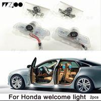 Puerta de coche LED Logo Proyector Ghost Sombra Luces Bienvenido Lámpara Fácil instalación para Acura Honda Civic Cortesyfor Acura MDX 07-17