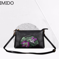 IMIDO 2019 Vintage Leather Ladies Single Shoulder Diagonal B...