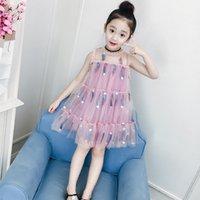 Vestido de niños sin mangas Vestido de encaje de niña 3y-12y Vestido de princesa de verano Vestidos de moda para niños grandes
