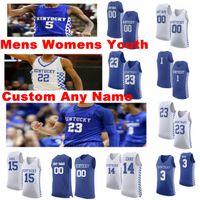 Kentucky Wildcats Jerseys 10 Juzang Johnny Jersey 11 Allen Dontaie 13 Welch Riley 21 Payne Zan NCCA Basketball Jerseys Custom Steinsted