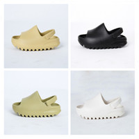 Neonati Nuovo 2020 Schiuma Runner Croc-like Runner Kids Kanye Wests Bianco BEIGE Rosso Black Black Toddlers Moda Sneakers 2020 Scarpe per bambini