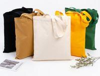 DHL50pcs сочетание цветов сумки женщин черный хлопок холст поделки простая вертикальная конструкция большой емкости открытый сумка