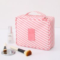 Da viaggio in pelle multifunzionale Cosmetic Bag le donne costituiscono i necessari dell'organizzatore Zipper trucco della cassa del sacchetto da toilette Kit Borse