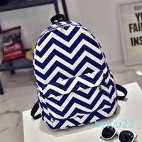 """Designer4 Farben Stripe Sparrenschulrucksack Leinwand Rucksäcke Bookbag 16"""" Reisetaschen Rucksäcke Canvas Schulterhandtaschen für College-Tasche"""