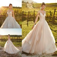 Eddy K 2019 Country A Line Wedding Dresses Spaghetti Beads R...