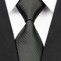 10CM العلاقات الحرير واسعة للرجال Gravatas مخطط الصلبة الجديدة للرجال ربطات العنق الأعمال أسود بدلة الزفاف الرقبة التعادل أحمر أبيض أزرق