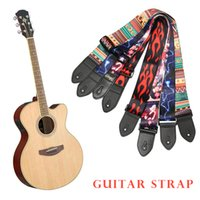 Alto Folk stampa Tracolle Chitarre ispessite Folk legno spigola della chitarra elettrica cinghie ballata chitarra elettrica Strap effetto di fase delle prestazioni