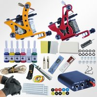Complete Tattoo Machine Kit 2 Rotary Tattoo Machine Gun Set ...