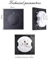 Interruptor de luz de pared con indicador LED COSWALL LUJOUSOUSE 1 GAND 1 WAY RANDOM Haga clic en el botón de empuje negro Aluminio Metal Panel