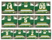 1978 WHA Vintage New England Whalers Jerseys 9 GORDIE HOWE 2 RICK LEY 14 DAVE KEON 5 MARCA HOWE Verde Personalizado Qualquer Nome Número Hockey Jerseys