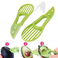 3-in-1 Avocat Slicer Karité carottier Beurre Peeler Fruit Cutter Pulp Separator Couteau de cuisine en plastique Outils de légumes Cuisine Gadget