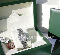 Nueva fábrica 2813 Movimiento automático 26mm damas / 18k blanco oro plata diamante 179174 con caja de buceo original