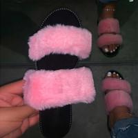 Pantofole Mcckle Donne Donna Bling Crystal Shoes Shoes Summer Scarpe Donne Slip on Pelliccia Peluche Donna All'aperto Casual Slides Diapositive femmina 2021